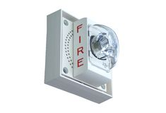 Fire alarm light. And siren Royalty Free Stock Photography