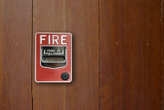 Fire alarm manual pull station. Royalty Free Stock Photography