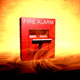 Fire Alarm. Manual Pull Station fire alarm Royalty Free Stock Photos