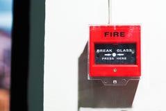 Fire Alarm near door fire Stock Photo