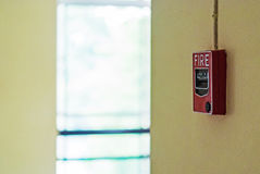 Fire Alarm near door fire.  Royalty Free Stock Images