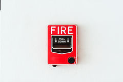 Fire Alarm near door fire Stock Image
