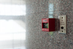 Fire Alarm near door fire Stock Photography