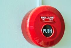 Fire Alarm near door fire Royalty Free Stock Photos