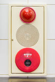 Fire alarm panel Stock Images