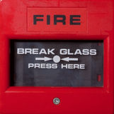 Fire Alarm Point. Fire alarm break glass alarm trigger Royalty Free Stock Image
