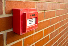 Fire alarm point Royalty Free Stock Photography