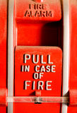 Fire alarm pull Royalty Free Stock Images