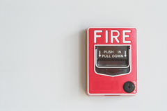 Fire alarm pull box Royalty Free Stock Photos