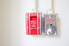 Fire alarm pull switch. Royalty Free Stock Images