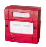 Fire alarm. Push button switch fire alarm Stock Images