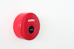 Fire alarm red circle box warning machine Royalty Free Stock Photos