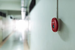 Fire Alarm. Red Fire Alarm near door fire Stock Images