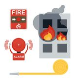Fire alarm set Royalty Free Stock Images