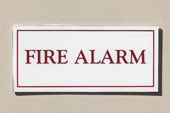 Fire Alarm Sign Royalty Free Stock Photos