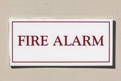 Fire Alarm Sign Royalty Free Stock Photos