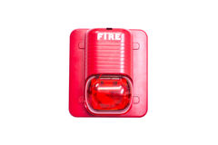 Fire alarm. Fire signal on white background Stock Image