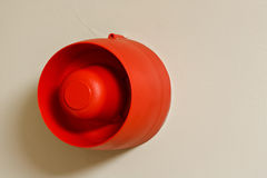 Fire alarm siren on wall Stock Image