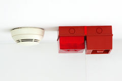 Fire Alarm & Smoke Detector Royalty Free Stock Photos