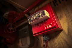 Fire Alarm with Strobe Royalty Free Stock Images