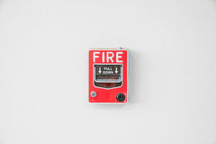 Fire alarm switch in factory Stock Images