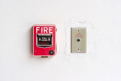 Fire alarm switch Stock Photography