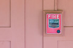 Fire Alarm Switch. Royalty Free Stock Images
