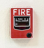 Fire alarm switch Royalty Free Stock Images