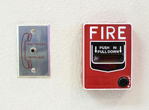 Fire alarm switch Royalty Free Stock Image