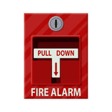 Fire alarm system. Fire equipment. Vector illustration in flat style Stock Photo