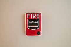 Fire Alarm on Wall Royalty Free Stock Photo
