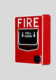Fire Alarm on wall Royalty Free Stock Photos