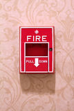 Fire Alarm on a Wall Stock Image