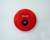 Fire alarm on the wall Stock Photography