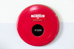 Fire alarm on the wall Royalty Free Stock Photos