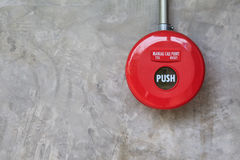 Fire alarm on the wall Royalty Free Stock Photography
