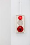 Fire alarm on white wall Stock Photos