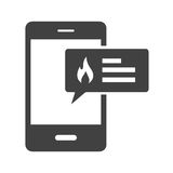 Fire Alert. Alert, fire, safety icon vector image. Can also be used for firefighting. Suitable for use on web apps, mobile apps and print media Royalty Free Stock Photography