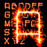 Fire alphabet Stock Images