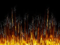 Fire&Smoke Imagens de Stock Royalty Free