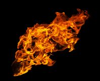 Free Fire And Burning Flame Isolated On Dark Background For Graphic Design Royalty Free Stock Photography - 183031267