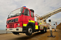 Fire And Rescue, Skylift Truck Stock Photos
