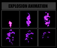 Fire animation sprites, vector flame video frames for game design. Fire sprites or animation frames icons. Use in game development, mobile games or motion Royalty Free Stock Photography