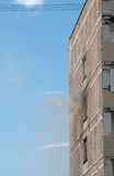 Fire in apartment building Stock Photos