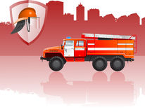 Fire apparatus. Vector color illustration of  fire apparatus. (Simple gradients only - no gradient mesh Stock Photos