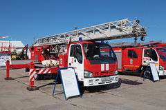 Fire apparatus ISUZU Stock Photo