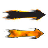 Fire Arrow. Isolated raster illustration Stock Photography