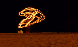 Fire artist Royalty Free Stock Images