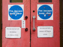 Fire ascape door Royalty Free Stock Photos