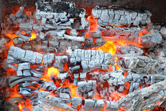 The fire and ashes background Royalty Free Stock Images